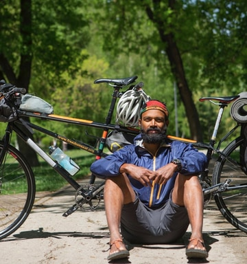 Naresh Kumar completes a Heart-breaking Bike Ride from India to Germany